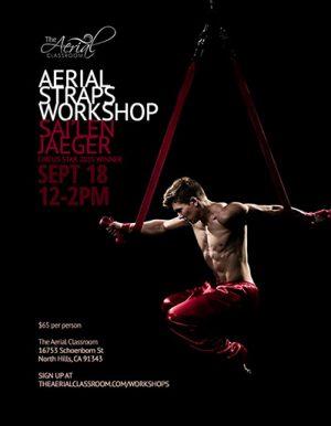 Aerial straps workshop with Sai'len Jaeger, Sep 18, 2016