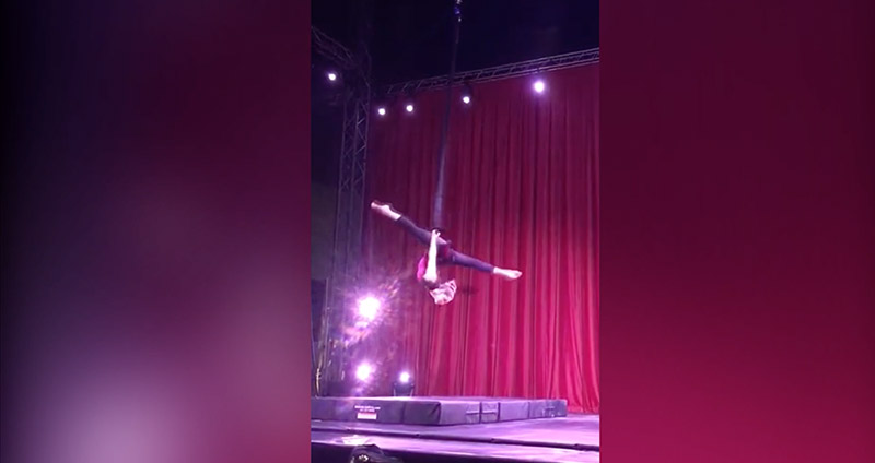 Camille Osborne, Circus Star USA 2017 performer